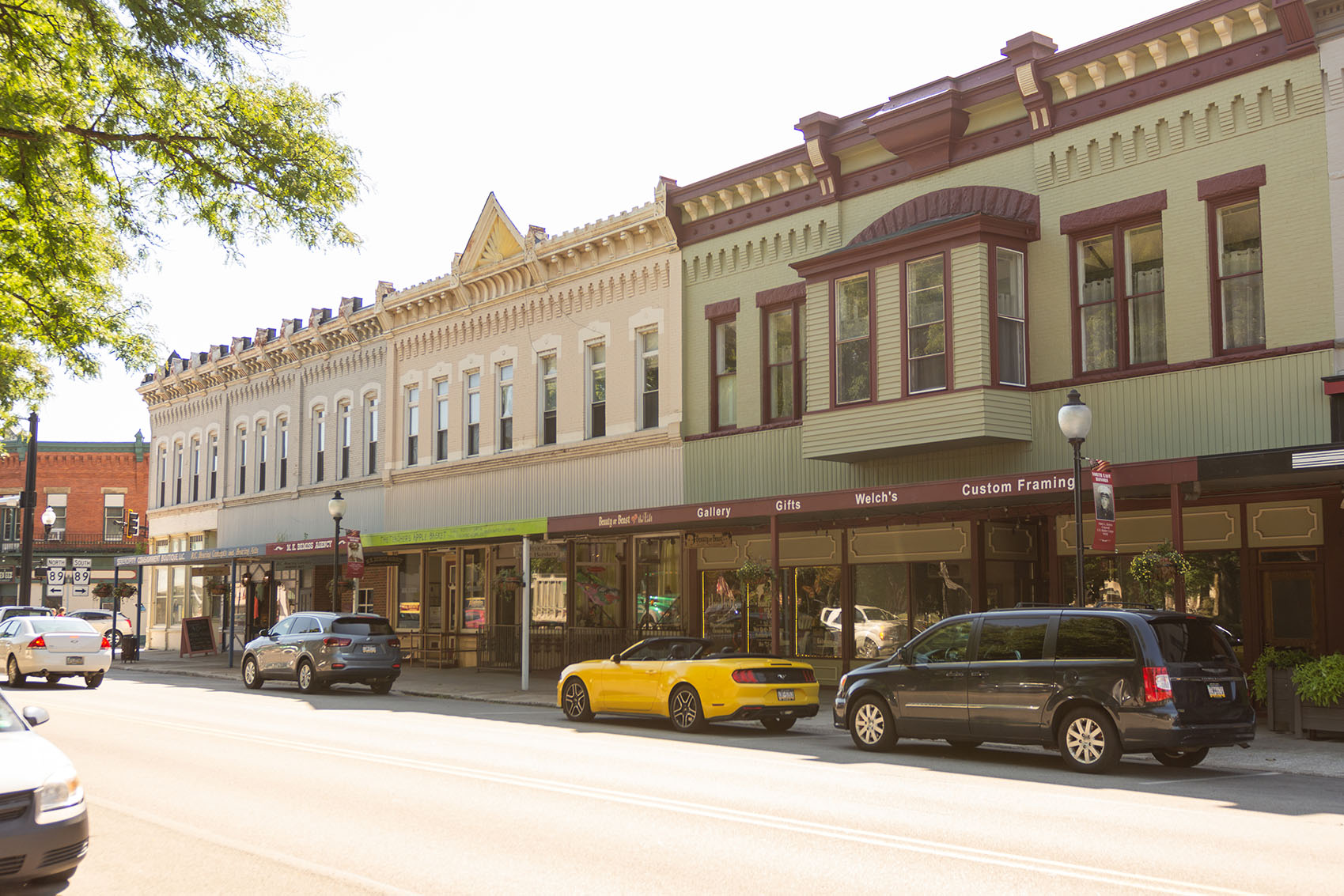 businesses downtown in North East