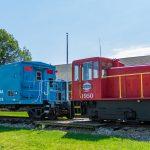 train at lakeshore railway in North East