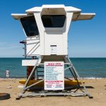 life guard stand at the beach